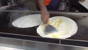 Cooking Idli Indian Food stock footage