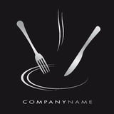 Cooking illustration. Illustration for cooking business with knife, fork and plate Stock Photos