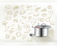 Cooking infographics vector Royalty Free Stock Image