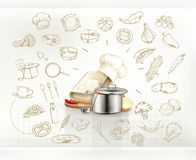 Cooking infographics vector Stock Photo