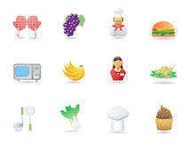 Cooking ingredient and Restaurant icons Stock Photo