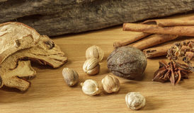 Cooking ingredient on wooden background,seasoning, Stock Photo