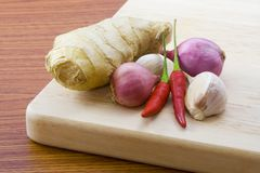 Cooking ingredients. Ingredients for Asian styled cooking Royalty Free Stock Photo