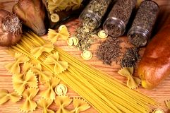 Cooking ingredients. A still life photo of cooking ingredients stock photography