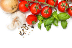 Cooking ingredients background Stock Photos