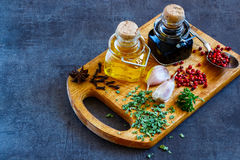 Cooking ingredients background Stock Image