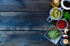 Cooking ingredients background Royalty Free Stock Photography