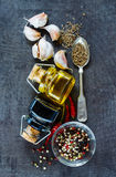 Cooking ingredients background Royalty Free Stock Photos