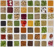Cooking ingredients - flavor and seasoning Royalty Free Stock Images