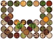 Cooking ingredients - flavor and seasoning - Space for text Stock Image