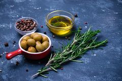 Cooking ingredients - italian cuisine Royalty Free Stock Image