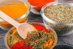 Cooking ingredients, spices, herds Royalty Free Stock Photos