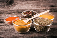 Cooking ingredients, spices, herds Royalty Free Stock Images