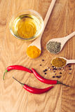 Cooking ingredients, spices, herds Stock Image