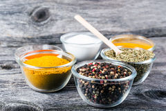Cooking ingredients, spices, herds Stock Images