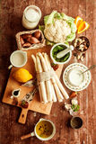Cooking ingredients for a tasty vegetarian meal Royalty Free Stock Photo