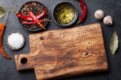 Cooking ingredients and utensils Stock Photo