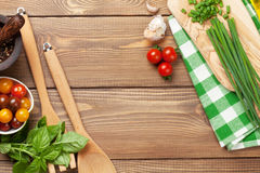 Cooking ingredients and utensils Royalty Free Stock Photos
