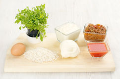 Cooking ingredients Royalty Free Stock Images