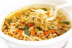Cooking of instant noodles Royalty Free Stock Photos