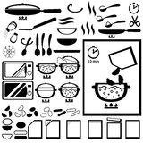 Cooking instruction for design of semi-finished products packing. Royalty Free Stock Photos