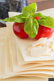 Cooking italian food pasta lasagne bolognese ingredients Stock Images