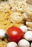 Cooking with italian ingredients Stock Photo