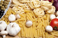 Cooking with italian ingredients Royalty Free Stock Images