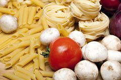 Cooking with italian ingredients Stock Image