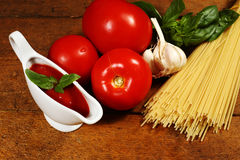 Cooking Italian pasta Royalty Free Stock Photography