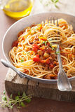 Cooking italian pasta spaghetti bolognese Royalty Free Stock Photos