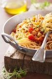 Cooking italian pasta spaghetti bolognese Royalty Free Stock Photo
