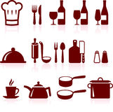 Cooking items internet icon collection Royalty Free Stock Photo