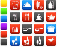 Cooking items internet icon collection Royalty Free Stock Image