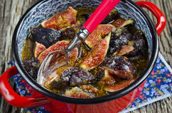 Cooking jam of figs Royalty Free Stock Image