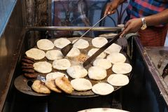 Cooking Junk Food in the Street Stock Photos