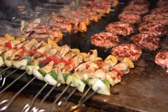 Cooking kebab Stock Image
