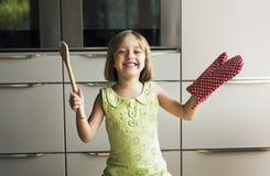 Cooking Kid Cookies Baking Wait Concept Stock Photo