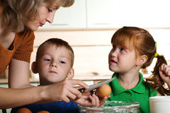 Cooking with kids Stock Photography