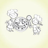 Cooking kids Royalty Free Stock Photo