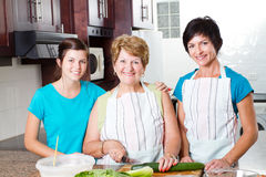 Cooking in kitchen Stock Photos