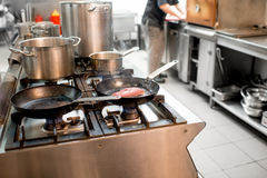 Cooking at the kitchen Royalty Free Stock Photo