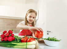 Cooking in the kitchen. Royalty Free Stock Photography