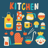 Cooking and kitchen icons Royalty Free Stock Photos