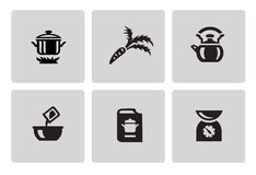 Cooking and kitchen icons Stock Photography
