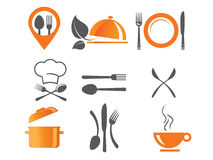 Cooking and kitchen icons. Cooking and kitchen vector icons Stock Images