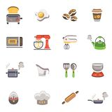 Cooking and Kitchen icons. Vector Cooking and Kitchen icons royalty free illustration