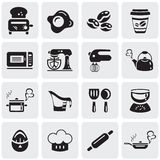 Cooking and kitchen icons Royalty Free Stock Photo