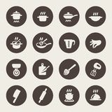 Cooking and kitchen icons. Vector Illustration Royalty Free Stock Photography