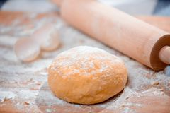 Cooking in the kitchen with rolling pin Stock Image